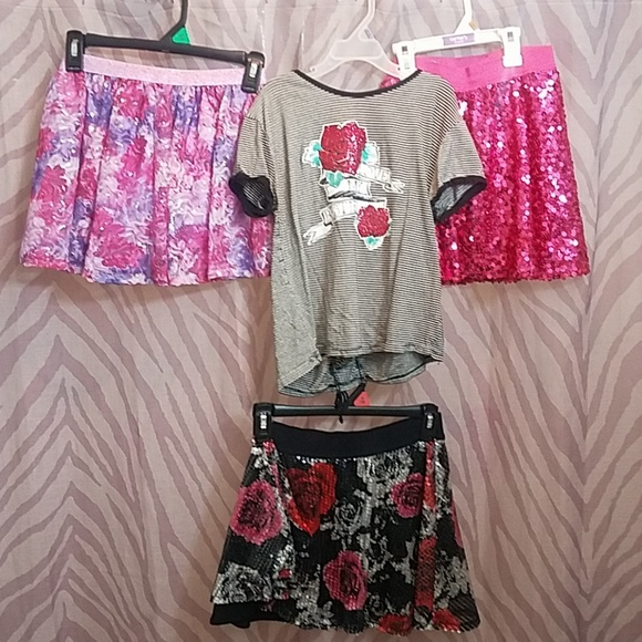 Justice Other - Justice lot sz 10 & 12 shirt and 3 skirts skorts